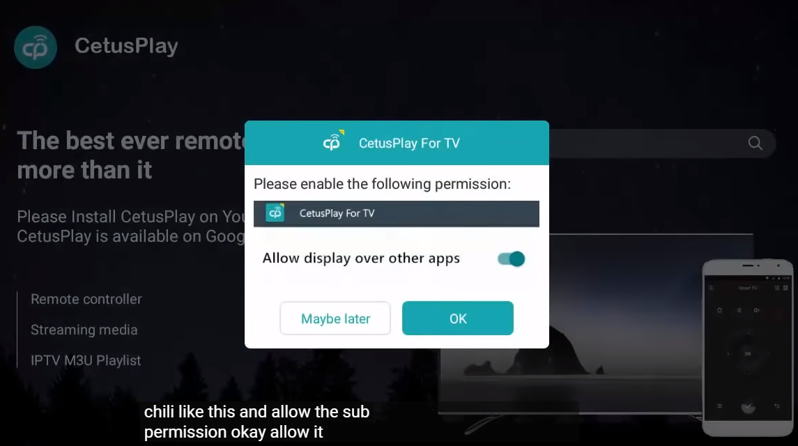 Use your smart phone as Android TV keyboard or mouse