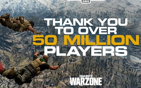 Call of Duty WARRZONE reached 50 million players