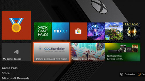Microsoft has announced that Xbox gamers will be able to donate money to the CDC by playing games