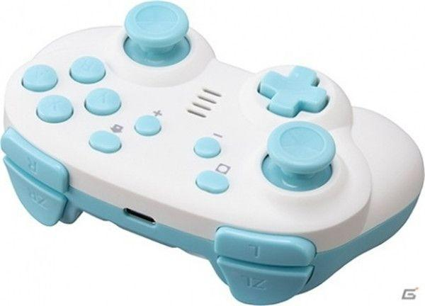 CYBER gadgets have introduced a new white and blue color Switch with a mini controller