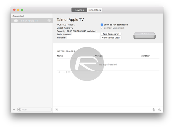 Apple TV 4K Connect To Xcode On Mac by Wi-Fi Tutorial in Detail