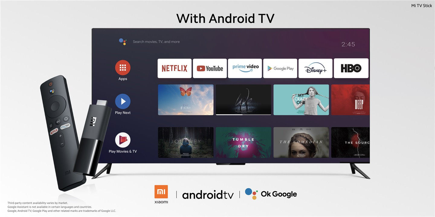 How good is Mi TV Stick: built-in Android TV system 1+8GB storage