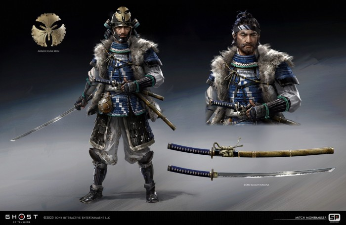 The Ghost of Tsushima design drawings and original paintings appreciation