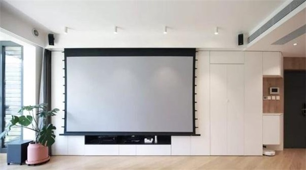 Do young people's living rooms install a TV or a projector?